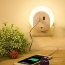 Art und Weise LED-helles Doppel-USB-Wand-Aufladeeinheit für Handy-Tablette PC