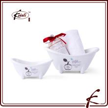 Plato de jabón de la bañera de la porcelana de la porcelana para el baño