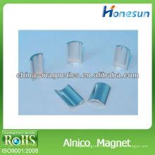 aimants d'anneau tige alnico8 en forme d'arc