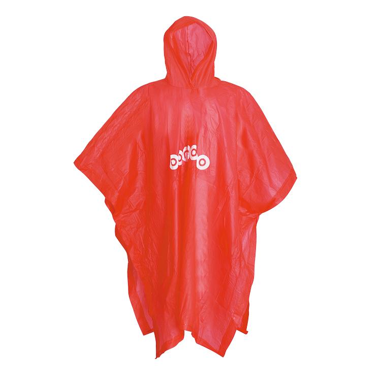 Logo dicetak baju hujan poncho PVC