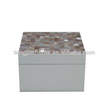 CPN-WPSBS Natural Crafts Boîte de rangement Pink Shell avec peinture blanche