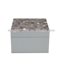 CPN-WPSBS Natural Crafts Pink Shell Storage Box with White Paint