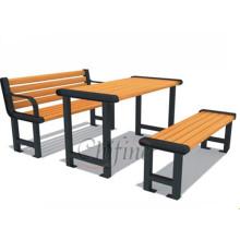 Banc de table de meubles d'extérieur coulé avec pattes en fonte