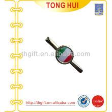 Epoxy de forma redonda clip de lazo de metal para accesorios Tie