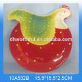 Belle plaque de coq en céramique design animal