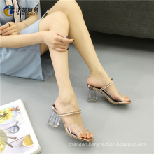 Be in great demand Square footwear women's sandals Jelly shoes Crystal shoes