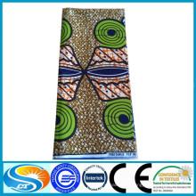 Горячая продажа хлопка африканской печати подлинной реальной батик восковой ткани