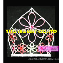 "8"" tall fashion flower eastern flower holiday tiara"