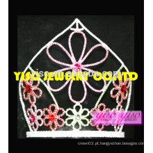"""Flor de moda de 8 """"de altura Flor oriental de férias tiara"""