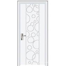 Puerta interior de plástico puertas interiores de blanco plástico impermeable