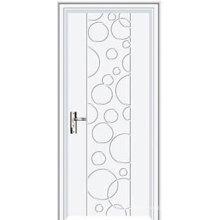 Intérieur de porte en plastique blanc en plastique imperméable à l'eau portes d'intérieur