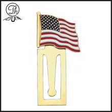 Gold flag decorative design bookmarks us