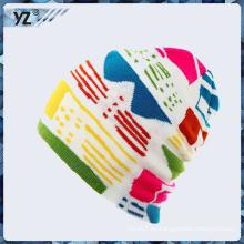Nuevo producto hecho punto sombrero de hilo hecho en China