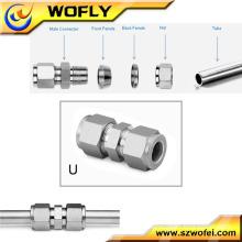 Gas Stainless steel double ferrule tube fitting swagelok fittings