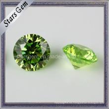 Semipreciosa de manzana verde cubic Zirconia Stone