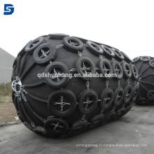 Garde-boue pneumatique YOKOHAMA du certificat CCS avec la chaîne et le filet de pneu pour la protection de bateau