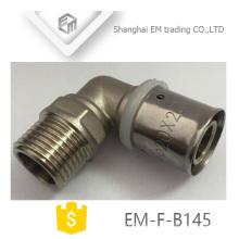 EM-F-B145 Gleicher Durchmesser 90 Grad-Verbindungsstück Doppelpaß pex al pex Ellenbogen