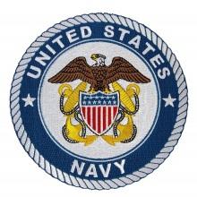 Parche Bordado de la Marina de los Estados Unidos