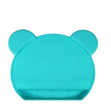 Пищевой силиконовый коврик на присоске в форме медведя