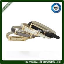 Fashion ladies Thin Genuine leather Metal Buckle Belt For Dress/Cintos Moda Mulher cintos de couro