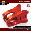 Изготовленный на заказ велосипед стволовых части алюминия CNC красный цвет Анодируя части CNC Филируя