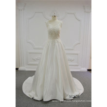Sexy Transparent Heavy Beading Wedding Dress Alibaba A-Line Wedding Dress