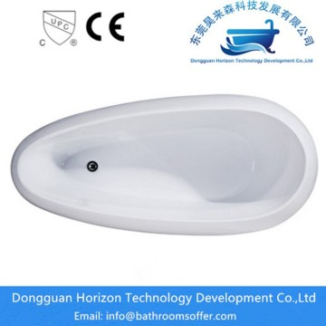 Egg shape acrylic bathtub