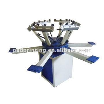 HS-1126 Manuel Machine à imprimer t-shirt à 6 couleurs avec séchoir éclair