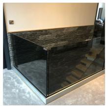 Precio de vidrio laminado templado para barandilla de balcón cerrada