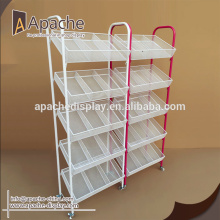 Popular Design for Display Rack,Display Shelves,Product Display Rack Manufacturers and Suppliers in China retail store wire display shelf supply to Turks and Caicos Islands Wholesale