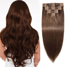 Straight Human Remy Hair Top Qulaity Virgin Hair Weave Clip in Hair Extensions