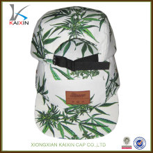 customizing top quality screen printed anchor pattern logo snapback 5 panel camp hat with nylon strap wholesale