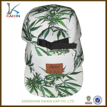 Personalizando tela de qualidade superior impresso padrão âncora logotipo snapback 5 painel chapéu de acampamento com alça de nylon atacado