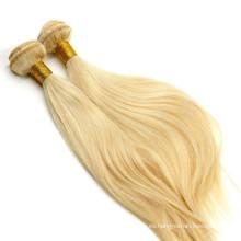 precios de extensiones de pelo humano Remi, paquetes del pelo rubio Ruso