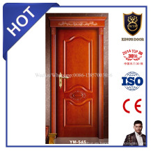 Puerta principal de madera sólida de alto grado para casa de campo