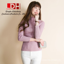2017 New Fashion Knitted Clothes Women high collar Pullovers Pure Cashmere Sweaters For Girl