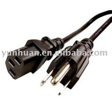Connecteur d'alimentation imprimante, cordon d'alimentation câble AC pour équipement de copieur