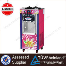 Heavy Duty Three Flavors Rainbow Soft Ice Cream Machine Malásia