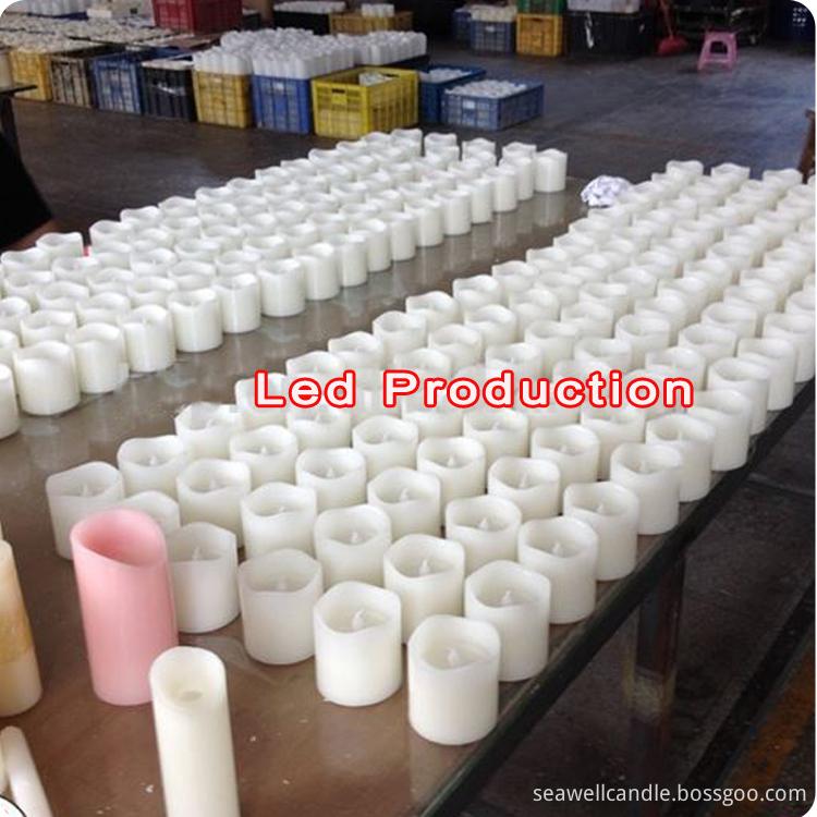 LED Pillar candle production