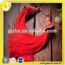 Текстильные дизайнеры Оптовые модные серьги Silk Tassel