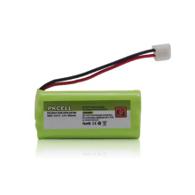 Paquete de batería recargable, batería del teléfono inalámbrico nimh aaa * 2 2.4v 600 mah alibaba al por mayor