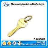 promotional gifts key shaped keychain custom metal key ring