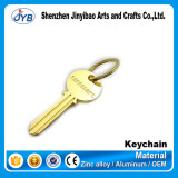 promotional gifts key shaped keychain custom metal key ring