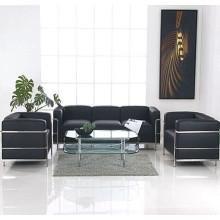 LC3 Le Corbusier Sofá de cuero Oficina del sofá de la recepción de oficina moderna