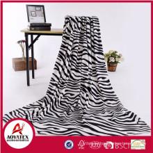 promotional 100 polyester cheap custom printed polar fleece blanket