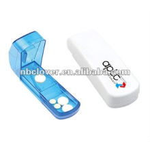 Caixa plástica do comprimido com cortador para a promoção