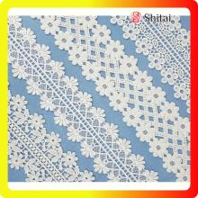 High reputation for China Chemical Lace Trimming,White Lace Fabric,Chemical Lace Fabric Supplier cotton embroidery french lace new lace designs export to Netherlands Exporter