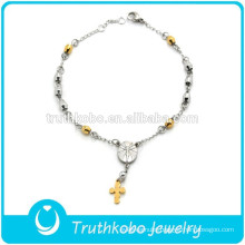 New Arrival Magnetic Healing Stainless Steel Health Rosary Beads Bracelets for Wholesale