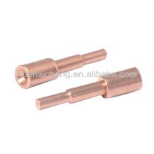 Fabricación de hardware de pasador de terminal de cobre soldado