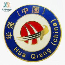 Wenzhou Jiabo 25mm fundición a presión insignia de esmalte de encargo Logo Metal Cloisonne solapa pines